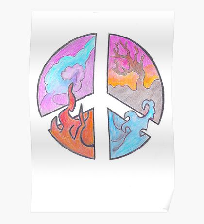 Peace - Four Elements  Poster