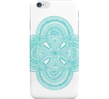 5 bubble mandala turqoise - OneMandalaADay iPhone Case/Skin
