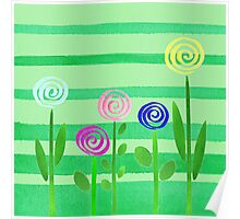 Lollipop Summer Garden Poster