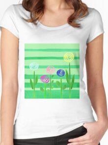 Lollipop Summer Garden Women's Fitted Scoop T-Shirt