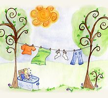 Laundry Day by Jennifer Gibson