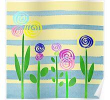 Lollipop Flower Bed Poster