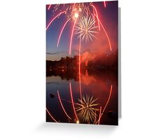 The Red Line Firework Greeting Card