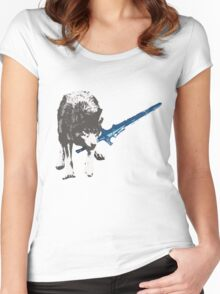 The Great Grey Wolf Sif  Women's Fitted Scoop T-Shirt