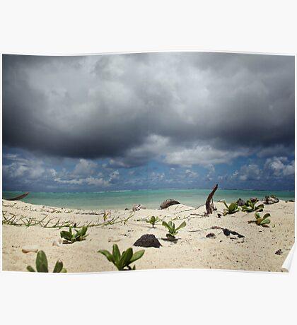 Impending Storm - Rarotonga, Cook Islands Poster