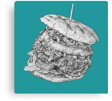 Epic Burger, Food Illustration Canvas Print