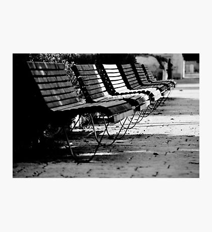 benches in row Photographic Print