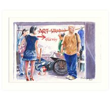 "Shanghai M50 - ""Where's the studio?"" Art Print"