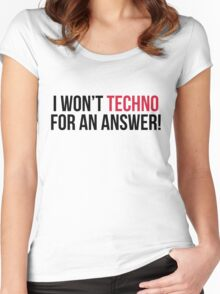 Techno For An Answer Music Quote Women's Fitted Scoop T-Shirt