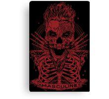 MASCULINE MAN RED Canvas Print