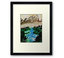 Lake Tahoe 2 of a series, watercolor Framed Print