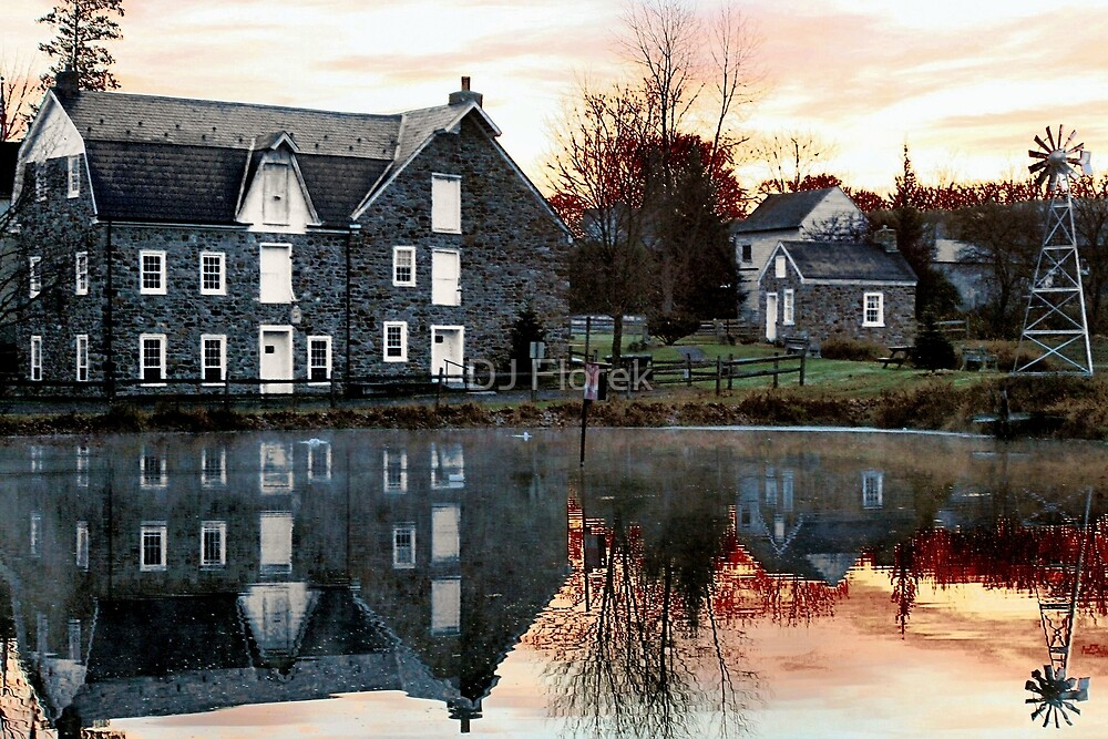 Reflection at Wagner Mill by DJ Florek