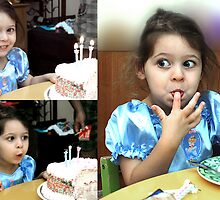 3 year old Birthday Triptych. by ronsphotos