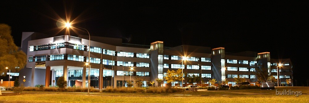 Caroline Chisholm Centre (by night) by Property & Construction Photography