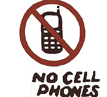 No Cell Phones (Luke's Diner) by MizSarie