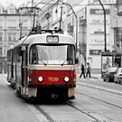 Prague Tram by Nicholas Jermy