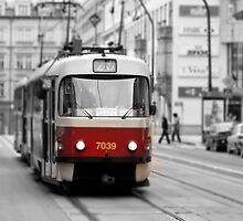 Prague Tram by Nicholas Jermy