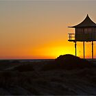Life Gaurd Tower At Largs Beach by Russell  Burgess