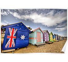 Brighton Beach Bathing Boxes Poster