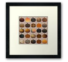 Cute Vintage Patterned Pumpkins Framed Print