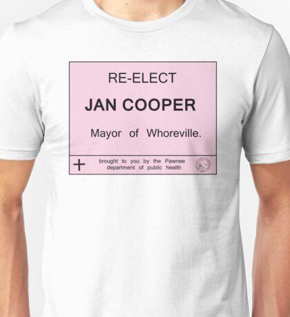 Pawnee re-elects Jan Cooper Unisex T-Shirt