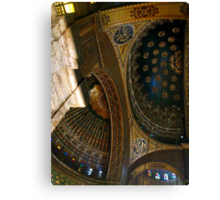 Inside the Alabaster Mosque of Muhammad Ali - Cairo Canvas Print
