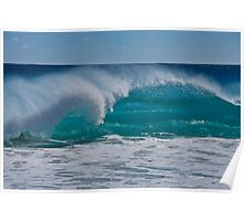 Blue Ocean and Spray Poster