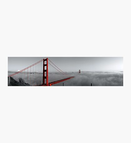 Golden Gate Bridge — Black and Red Photographic Print