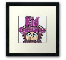 Kid Coders Code Better  Framed Print
