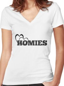 Love My Homies  Women's Fitted V-Neck T-Shirt