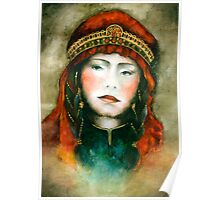 Portrait of nomad woman Poster