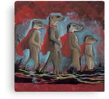 Super Hero Meerkats Assemble! Canvas Print