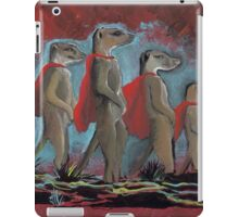 Super Hero Meerkats Assemble! iPad Case/Skin