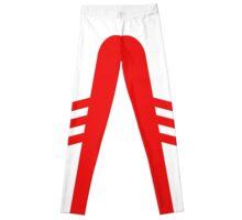 White Red Two Stripe Leggings
