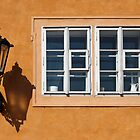 Gas Lamp and Window, Prague by Nicholas Jermy