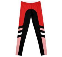 Red Pink Two Stripe Leggings