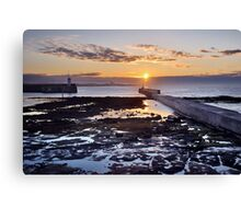 Seahouses Sunset Canvas Print