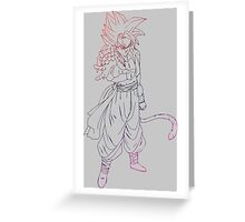 dragon ball z goku vegeta gogeta anime manga shirt Greeting Card