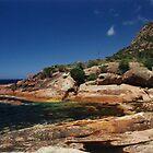 Rocky Coastline, Freycinet National Park, Tasmania by Jane McDougall