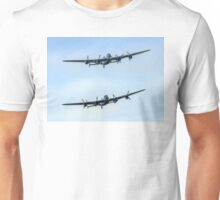 2 Lancasters in Formation Unisex T-Shirt