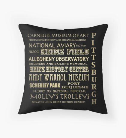Pittsburgh Pennsylvania Famous Landmarks Throw Pillow