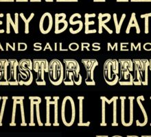 Pittsburgh Pennsylvania Famous Landmarks Sticker