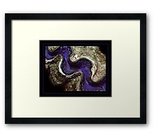 Blue Clam in the Red Sea Framed Print