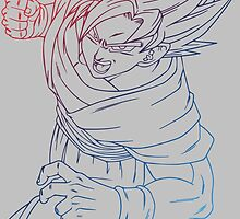 dragon ball z goku super saiyan anime manga shirt by ToDum2Lov3