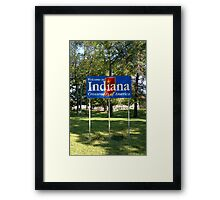Indiana Welcome Sign Framed Print