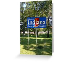 Indiana Welcome Sign Greeting Card