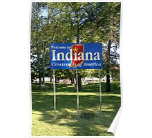 Indiana Welcome Sign Poster