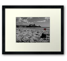 Bournemouth Pier in Black and White Framed Print