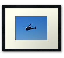 Police Helicopter at the Sinking of Adelaide Framed Print
