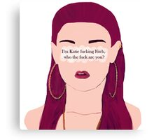 Skins UK - Katie fucking Fitch Canvas Print